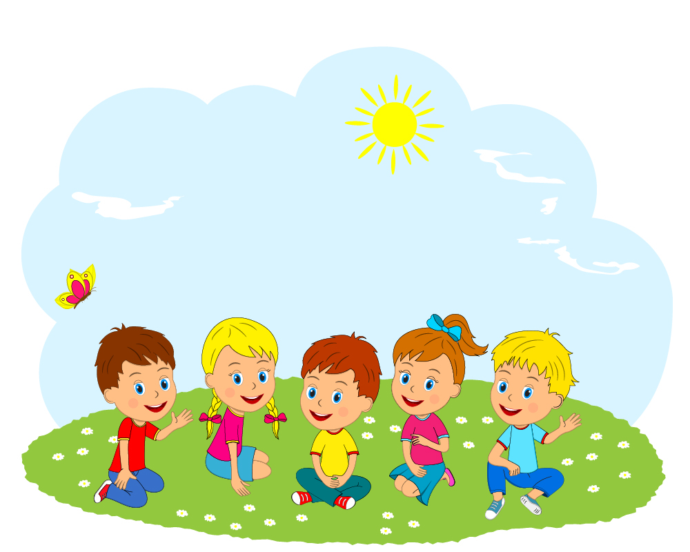 01 Уровень 2 stock-vector--kids-boys-and-girls-are-sitting-on-the-me adow-illustration-vector-587366966.jpg